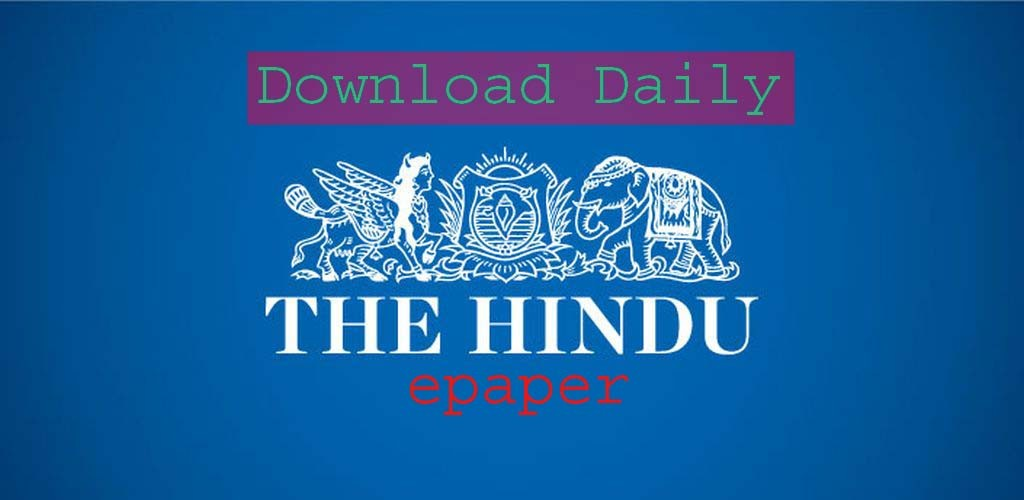 Today's The Hindu Newspaper Pdf free Download