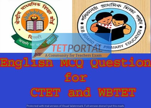 Quiz 1: English and Pedagogy MCQ Question for CTET and TET